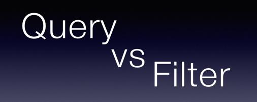Elasticsearch – Query vs Filter   Guruble
